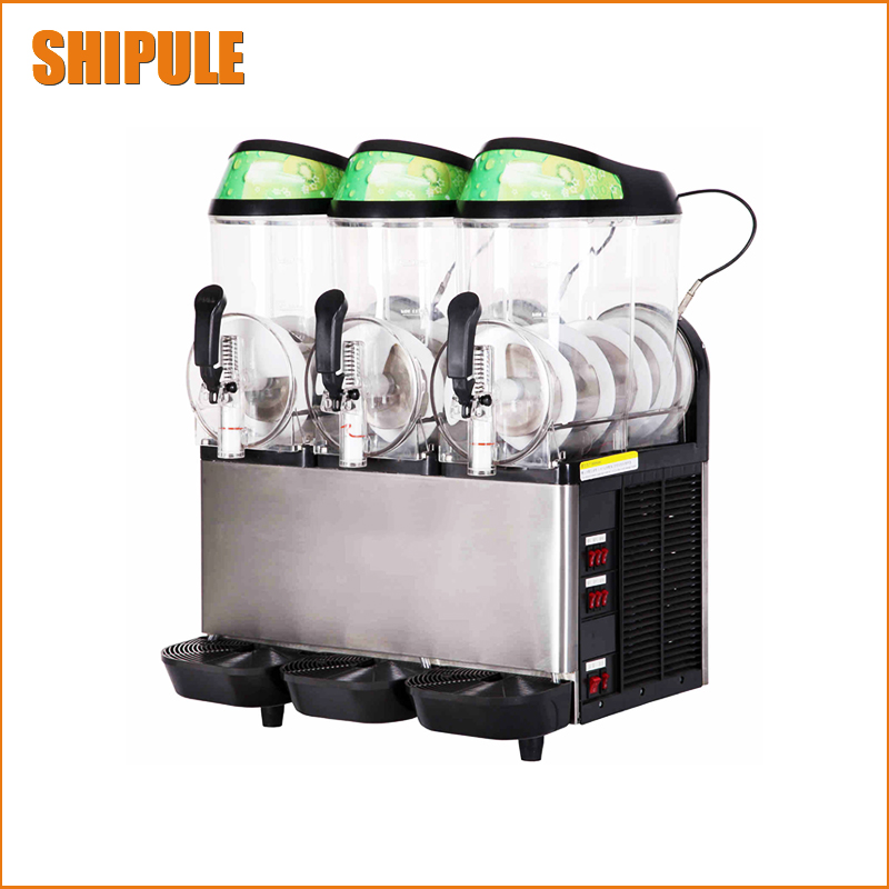 цены  SHIPULE 36L Commercial Ice cream maker 3 tank Slush machine Slusher Soft Ice cream machine 220V 110V