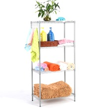 Langria 4-Tier Classic Metal Wire Storage Rack Shelving Rack Shelving Unit 275 lbs Capacity for Kitchen Toy Bedroom Bathroom(China)