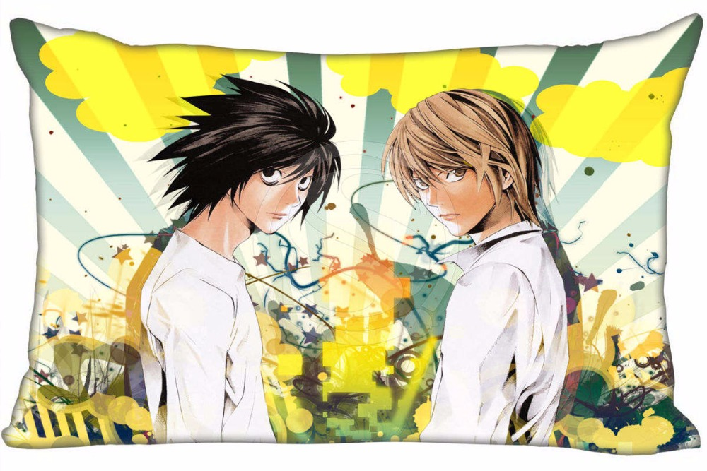 Hot Sale Death Note Anime #11 Pillowcase Custom Zippered Rectangle Pillow Cover Cases Size 50x75cm (Two sides) WT#905&D13