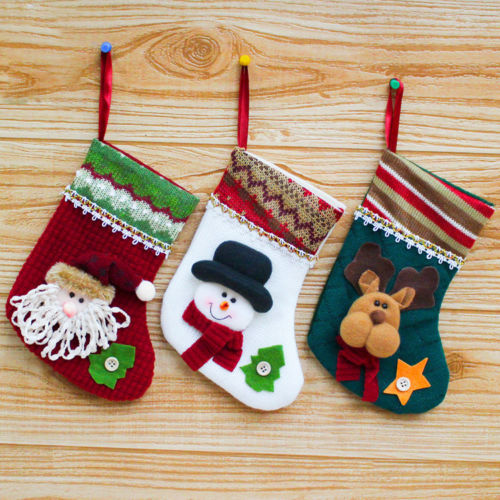 personalised kids embroidered xmas stocking sacks santa snowman gift holders christmas 2017 in stockings gift holders from home garden on aliexpresscom - Embroidered Christmas Stocking