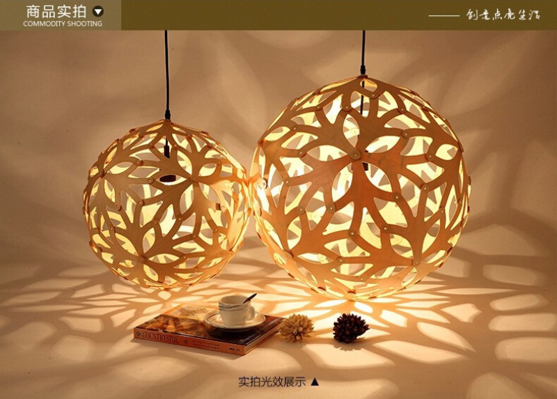 nordic bamboo coral pendant lights modern creative fixtures dia 16 inch simple wooden ball coral pendant bamboo pendant lighting