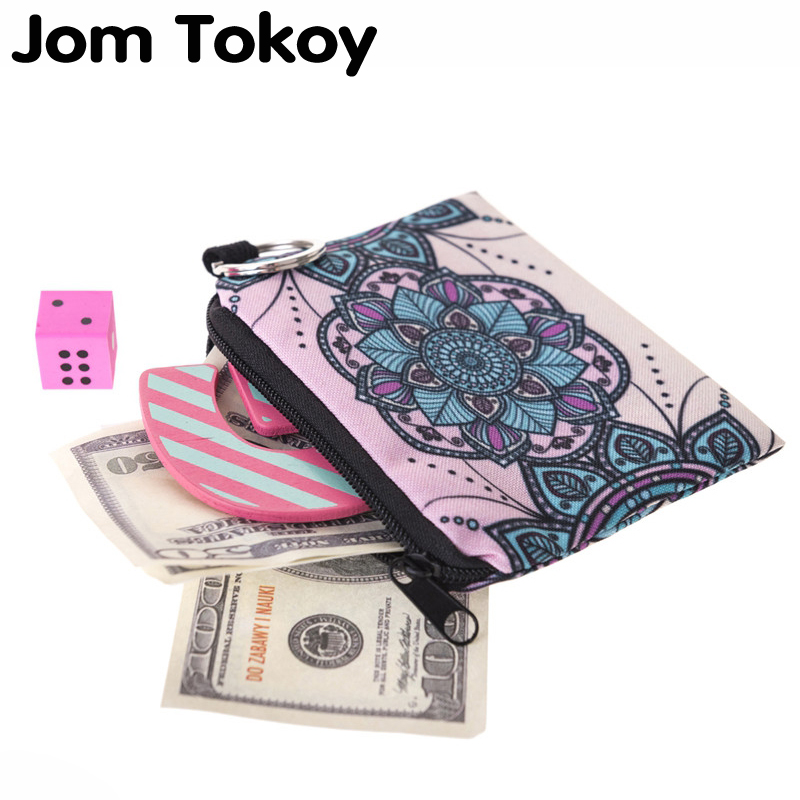 Jom Tokoy mandala flower Mini Wallet 2017 Fashion Prints Women Purse Holder Small Zipper Coin Purse Female Money Bags flamingo beach mini square wallet 2017 who cares fashion prints women purse holder small zipper coin purse female money bags