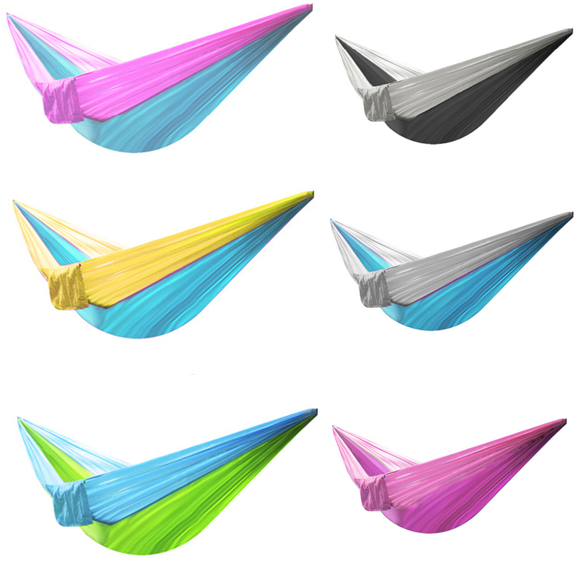 Portable Hammock Double Person Camping Survival Garden Hunting Leisure Travel Furniture Parachute Hammocks 20cm X 12cm X 10cm Sports & Entertainment
