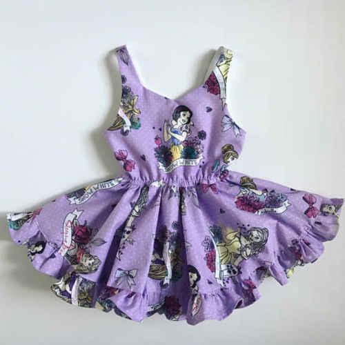 مهرجان طفل الفتيات الصيف الأميرة اللباس حزب الاطفال ملابس فساتين 1-6y