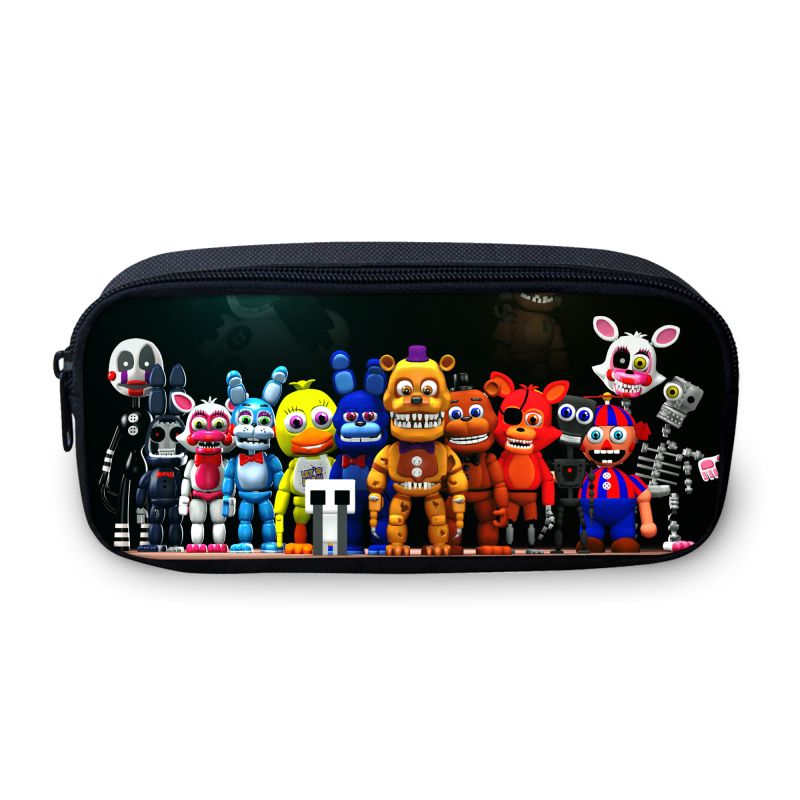 2017 Cute Cartoon Box Case For Students Five Nights At Freddys Study Bags Teenage Girls Boys School Children Bag Kids Cases cute cartoon women bag flower animals printing oxford storage bags kawaii lunch bag for girls food bag school lunch box z0