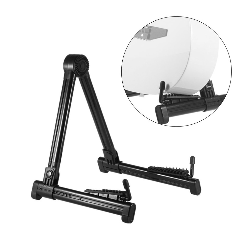 A-frame Guitar Stand Holder Bracket Mount Foldable Universal for Acoustic Classical Electric Guitar Ukulele Bass Black Holding foldable scratch proof anti skid guitar stand holder bracket mount universal for acoustic classical electric guitar ukulele bass
