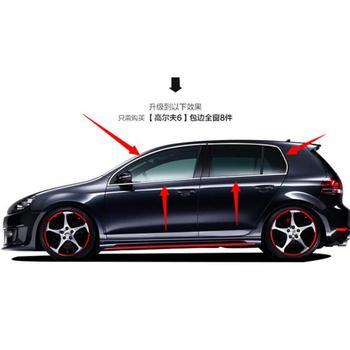 Hochwertige edelstahl Streifen Auto Fenster Trim Dekoration Zubehör Auto styling Für 2010-2013 Golf 6 (8 stück)