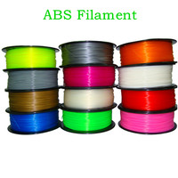 Solid ABS Filament 1.75mm 1KG For 3D Printer ABS Plastic Rubber Consumables Material Random Color For 3D Printing prusa i3