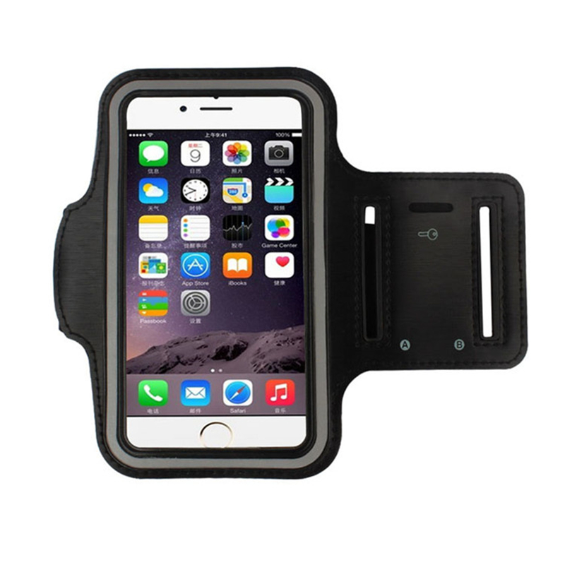 Sports Mobile Phone Holder Waterproof Armband Case For Iphone 4 4s 5 5s 5c Se 6 6s 7 Plus Running Arm Band Bracadeira Esportiva