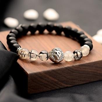 Matte Natural Stone Buddhism Yoga Spartan Balance Bracelet