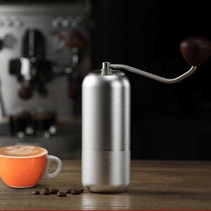 Image 5 - בר קפה ידני מטחנת קפה מיל נייד אלומיניום סגסוגת נירוסטה בר core diameter60mm