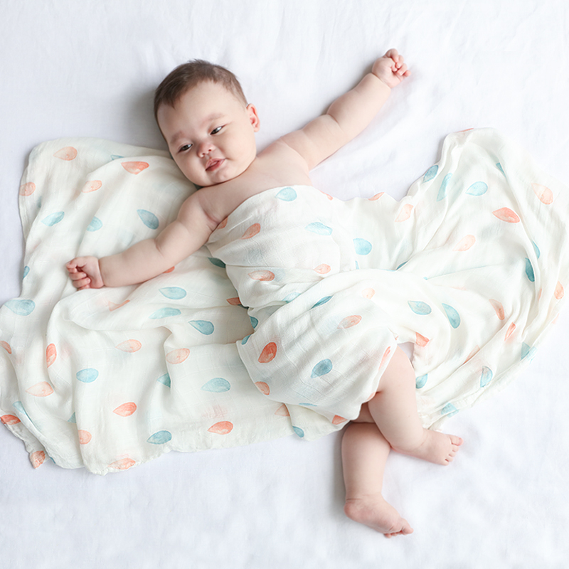 New Prints Muslin Baby Blanket Cotton Bamboo Super Soft Baby Swaddle For Newborns Bath Towel Stroller Cover