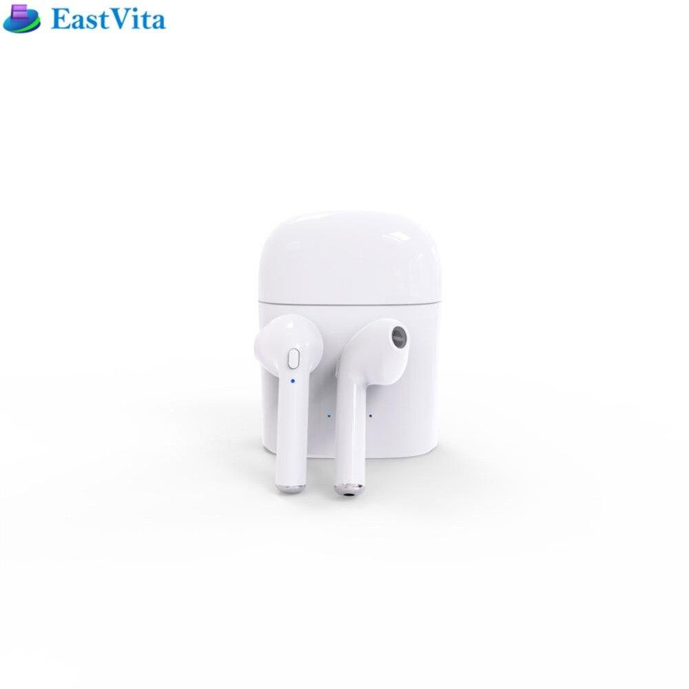 EastVita HBQ i7 Mini Sans Fil Bluetooth 4.2 Binaural Casque Stéréo Bruit Annulation Écouteurs avec boîte de charge