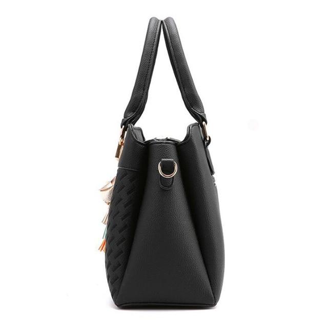 Top Handle Tassel Tote Bag 1