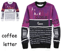 2016 summer style Black/white coffee&letter sweatshirts men/women 3d hoodies Fashion clothes moleton masculino size plus S-XXL