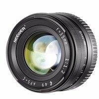 Neewer 35mm f1.2 grande abertura prime APS-C lente de alumínio compatível com sony