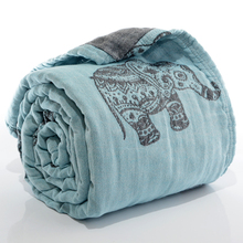 New style popular autumn cotton four layer gauze Machine wash printed towel cover blanket Tyrande