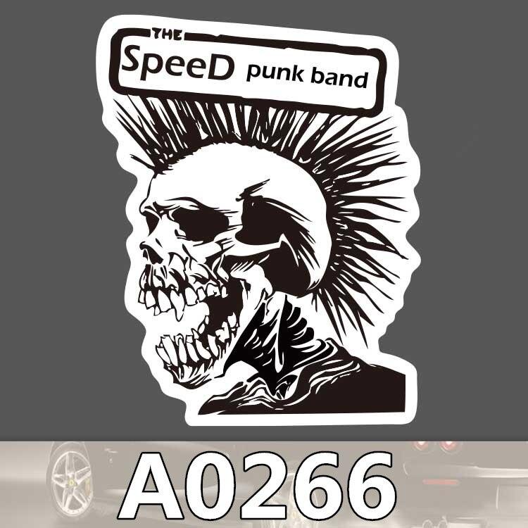 sticker skull punk can tororo bike hobby suitcase laptop guitar luggage DIY skateboard bicycle toy