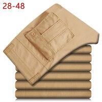 28 48 Plus Size Men Pants Leisure Loose Streetwear Baggy Work Wear Fashion Cotton Autumn Mens Cargo Pants With Many Pockets