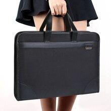 Сумка для документов, холщовая офисная мужская сумка-тоут, деловая, многослойная, Оксфорд, портфель, женская, простая информация, посылка