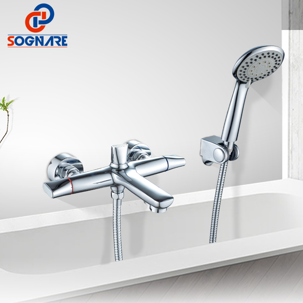 SOGNARE Bathroom Shower Taps Bathtub Faucet Tap Bathroom Shower Faucet Set Waterfall Bath Sink Faucet Water Mixer Sink Tap D6110 baolinlong classic styling brass bathroom shower faucet bathtub faucet tap bath shower set waterfall bathtub sink faucet water