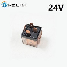цена на CAR Automobile Transparent 24V 4Pins 80A relay, coil voltage DC24V Relay  20pcs/lot Free Shipping