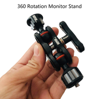 Articulating Magic Arm with Double Ballhead 1/4 3/8 Screw Adjustable Monitor Holder Mount Stand Rig Accessories