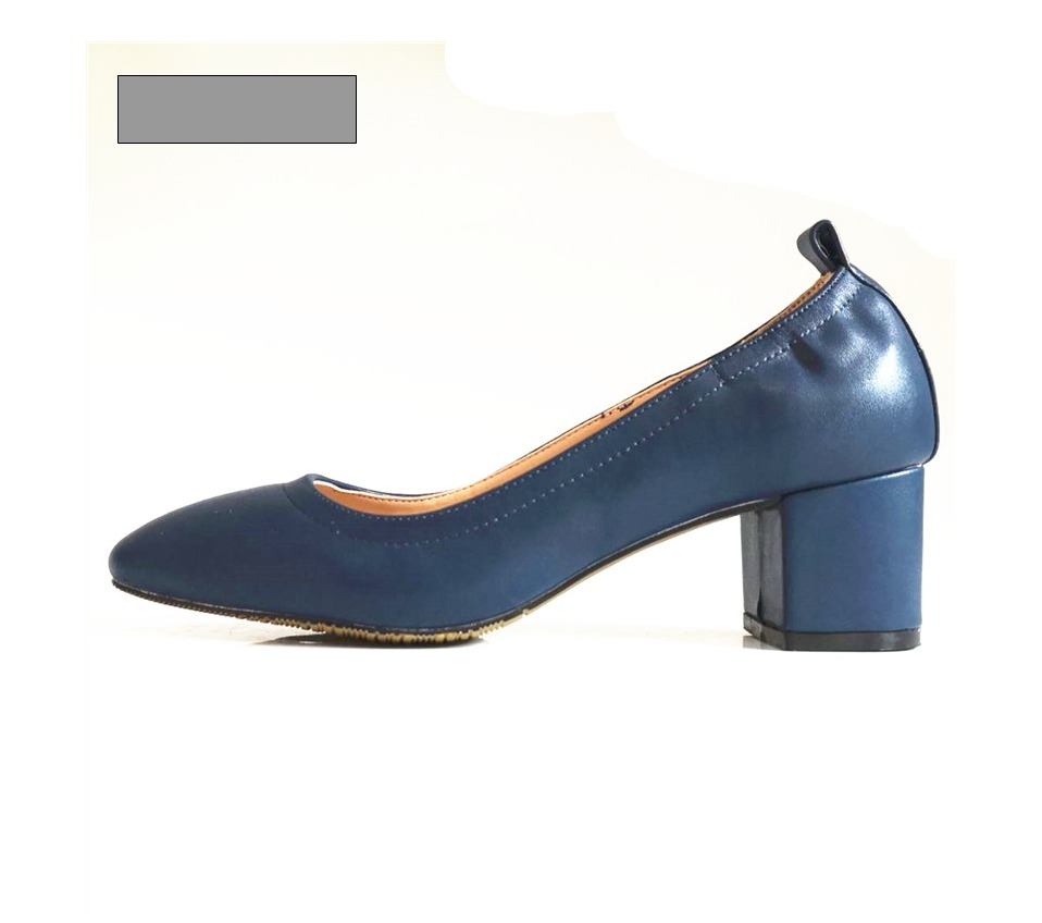 Shoes Women Genuine Leather Fashion Office and Career Rounded Toe 2-inch Block Heel Fashion Office Lady Pumps Size 34-41, K-307 52