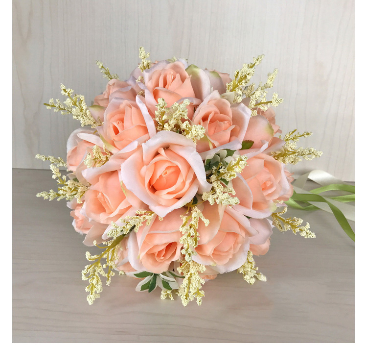 white pink silk flowers bridesmaids bridal Wedding Bouquets rose flowers (14)