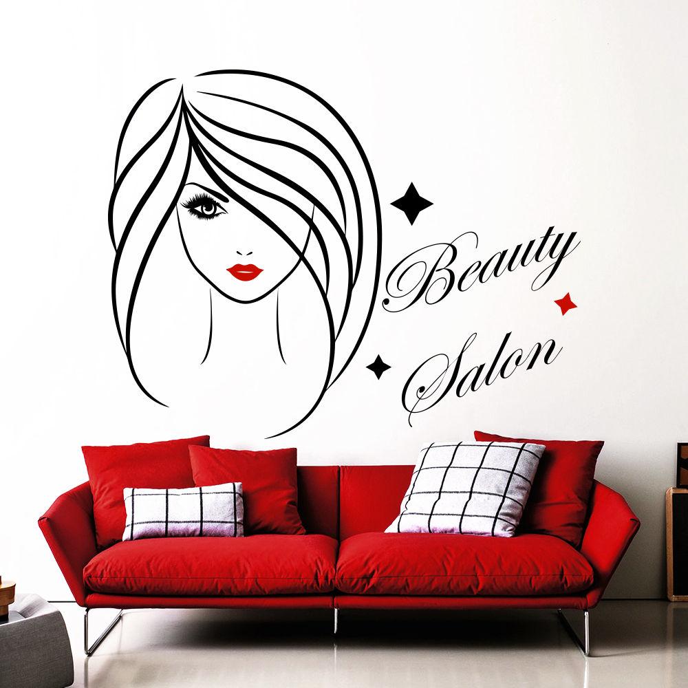 Beauty Salon Wall Decal Fashion Girl Decal Sticker Interior Design ...