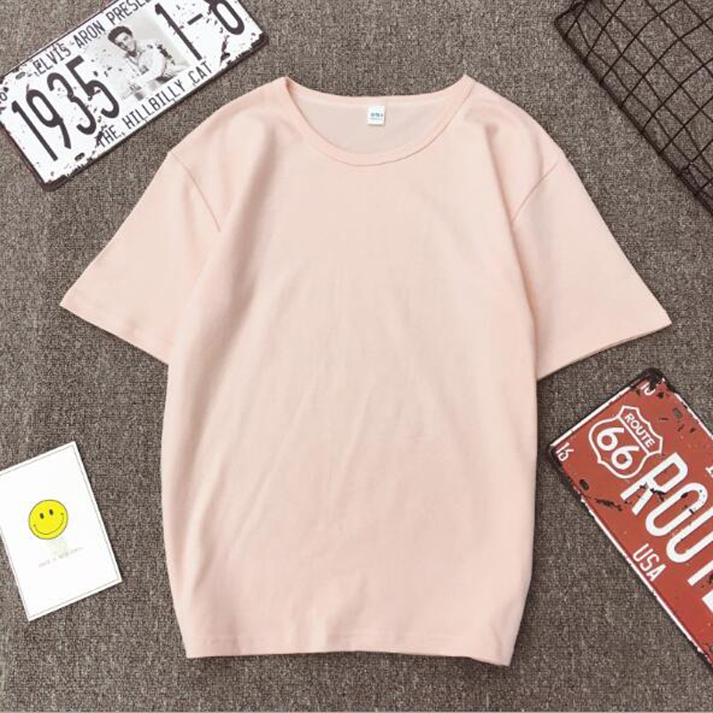 Fashion Solid Color Women T shirt Spring Summer Short Sleeve O Neck Cotton Spandex Women Tops Casual Slim Female T-shirt