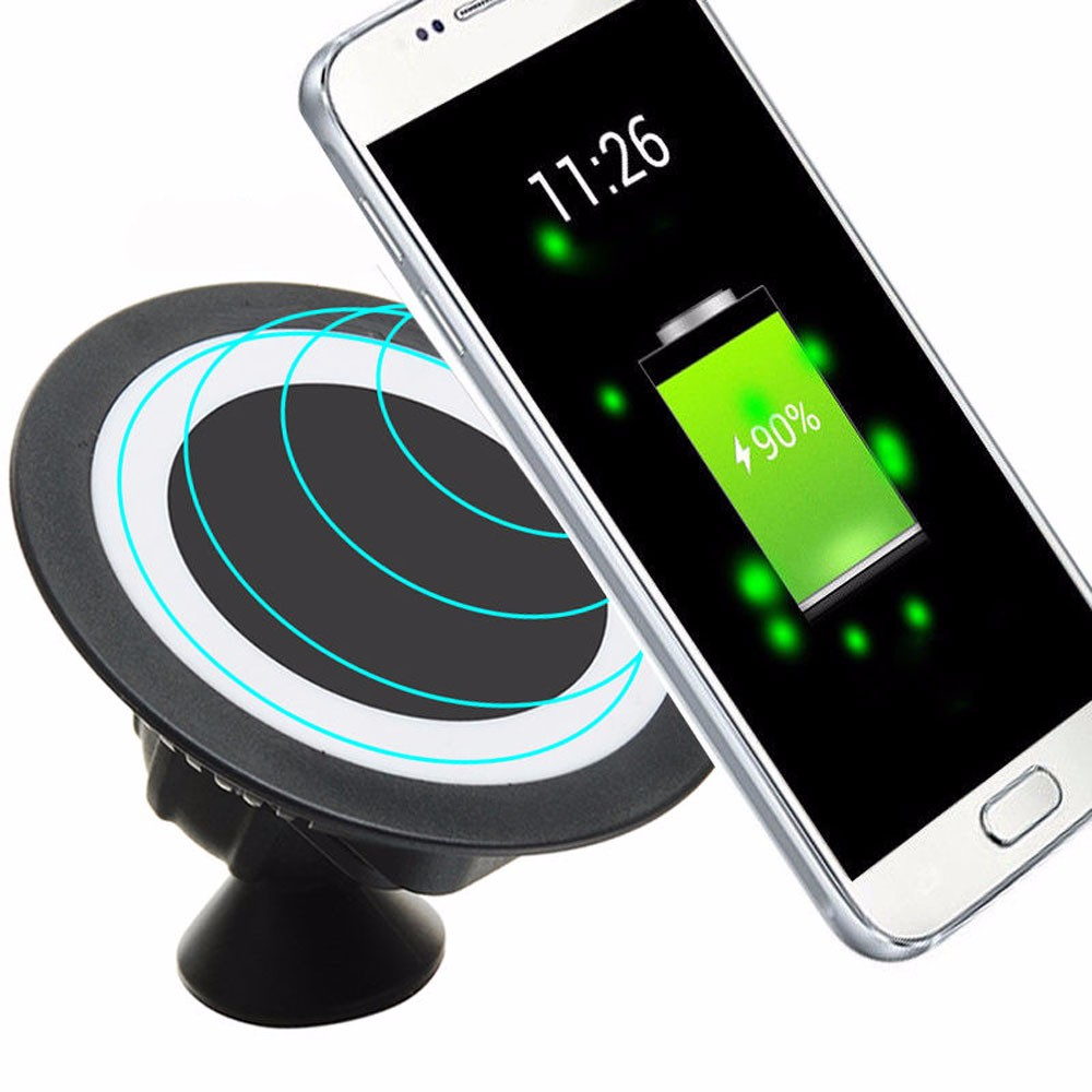 2016 the New Wireless Charger Dock font b 360 b font Rotating Mount Car Holder car