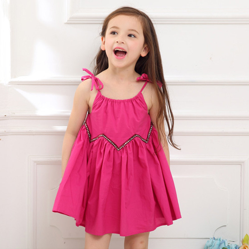 2017 Baby Toddler Girls Beach Dress Cool Fashion Summer Frock Design Kids Clothes for Children Age  5 6 7 8 9 10T Years Old Girl