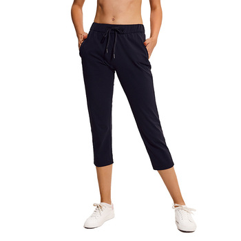 NWT Women Capris 4 way Stretch Fabric Boot Cut Casual Crop Sports Yoga Leggings with Outside Pockets Wide Leg Leggings
