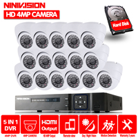 16ch CCTV System 4MP AHD Camera 16PCs Security Camera System AHD DVR 4MP 2M HDMI CCTV DVR Recorder 4.0MP CCTV Camera system kit
