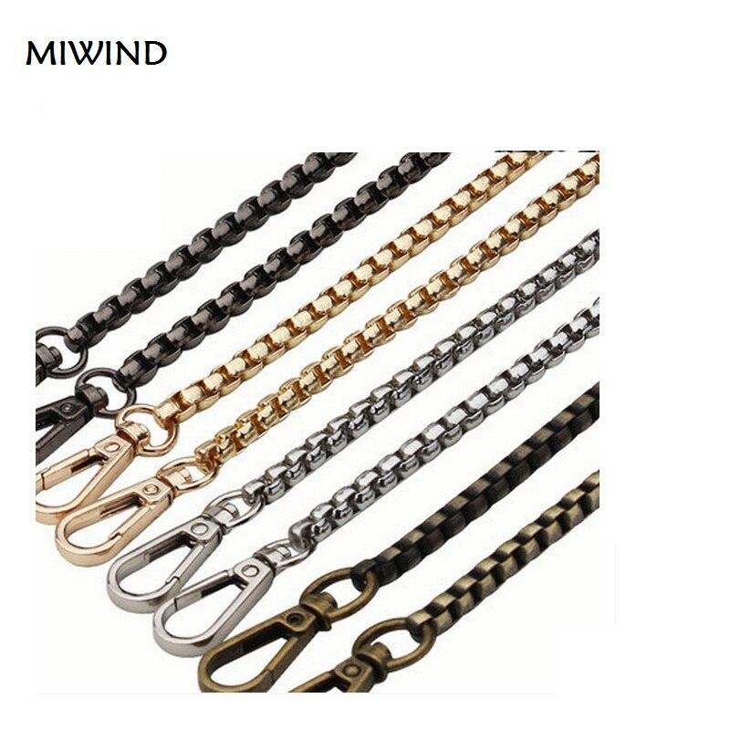 Generic Skinny Metal Purse Shoulder Bag Chain Strap Handle Handbag Bag Chain Replacement 120cm Silver