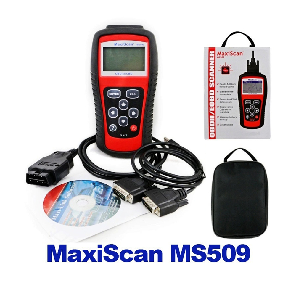 Vehicle Tool Car Code Reader Tester Autel MS509 OBDII Auto OBD2 Scanner Maxiscan MS509 Automotive Diagnostic Scanner 10pcs lot new iws5a high quality multi purpose headlamp high brightness for mining hunting camping lamp usb charger 6 2ah 3 7v