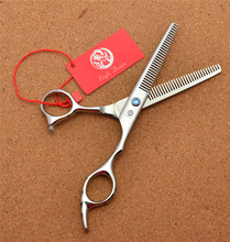 6.0 17.5cm Purple Dragon JP 440C Professional Hairdressing Scissors Thinning Shears Douuble Side Teeth 15% Rate Z2001