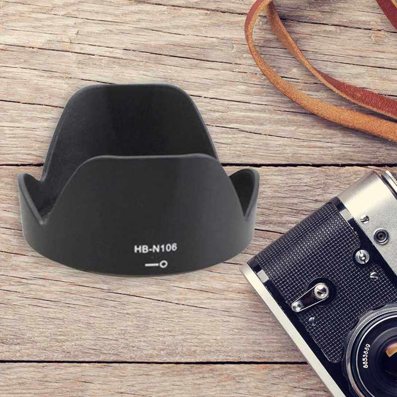Ống Kính máy ảnh Hood HB-N106 55mm Bằng Lưỡi Lê cánh hoa Đảo Chiều Lens Hood cho Nikon D3400 D3300 D5300 AF-P DX 18- 55mm f/3.5-5.6G VR