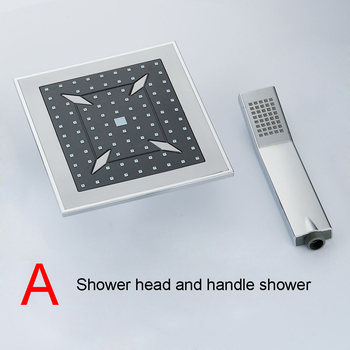 BAKALA  8 inch Bathroom rain  shower faucets Diamond Designs ABS head hand shower for Bath Showering System  4 7