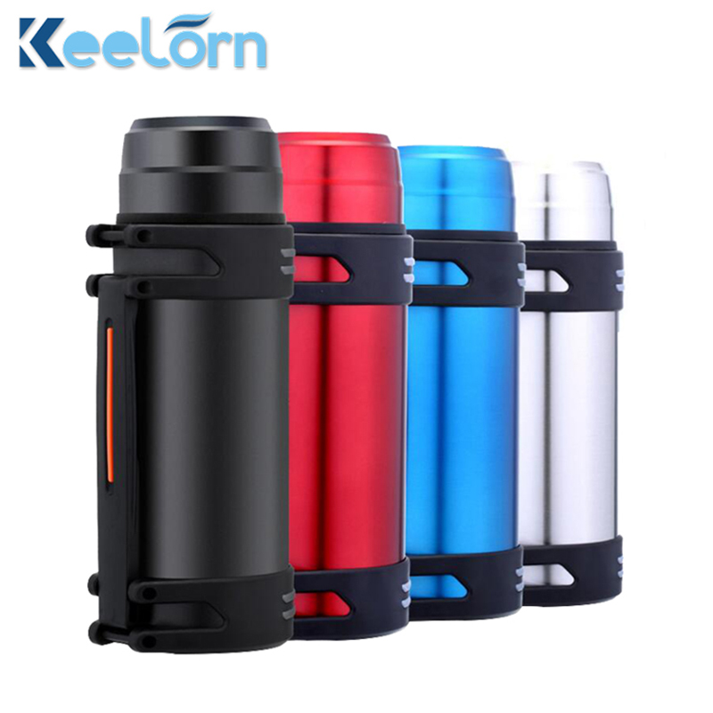 Keelorn 2000ML High-Capacity Travel Pot Gift Custom Insulation Cup Outdoor Sports Bottle Stainless Steel Vacuum Flasks Cups
