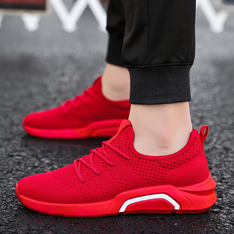 Classics Style Men Running Shoes Lace Up Sport Shoes Men Outdoor Jogging Walking Athletic Shoes Male adult light sneakers colour block lace up splicing athletic shoes