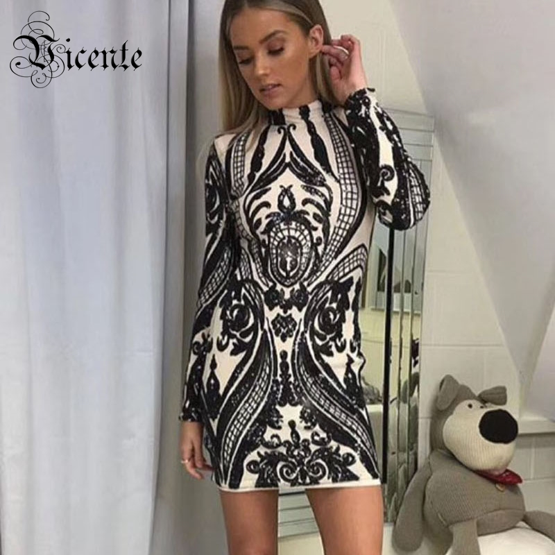Vicente All Free Shipping Pre order 2019 New HOT Fashion Elegant Luxe Shimmer Sequined Long Sleeves