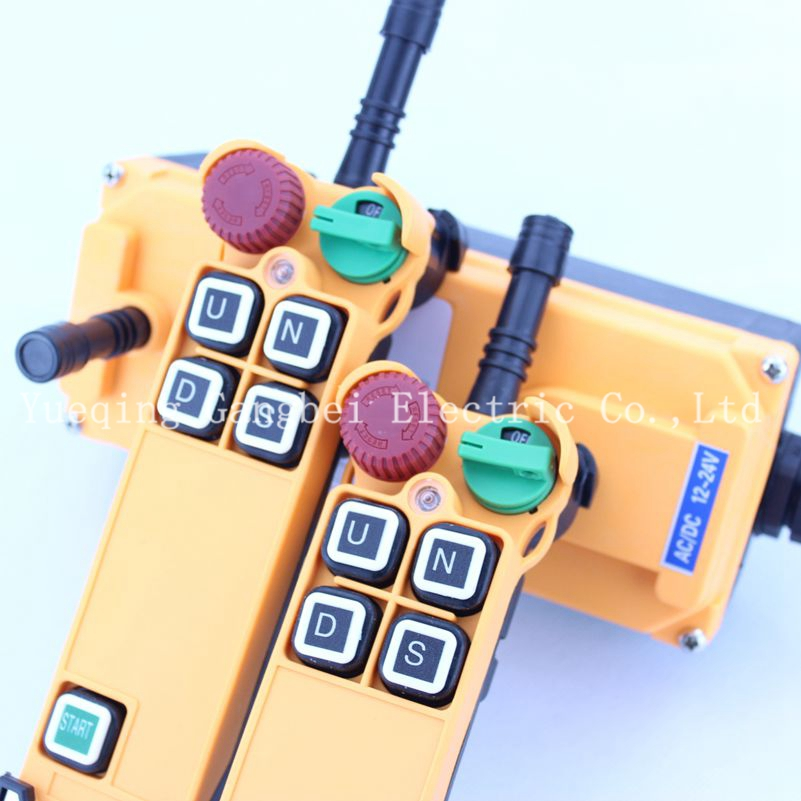 HS-4S (include 2 transmitter and 1 receiver)  crane remote control  Your order note need voltage:380VAC 220VAC 36VAC  24VDC 12v 24v hs 10 industrial remote control crane transmitter 1pcs transmitter and 1pcs receiver