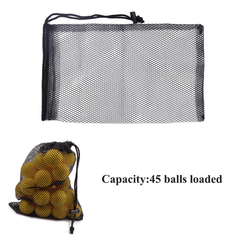 Image 5 - Nylon Mesh New Golf  Nets Bag Pouch Golf Tennis Keep Up 50 Balls Holder Golf balls Storage Clasp Training Aid Bag 30*20cm-in Golf Training Aids from Sports & Entertainment