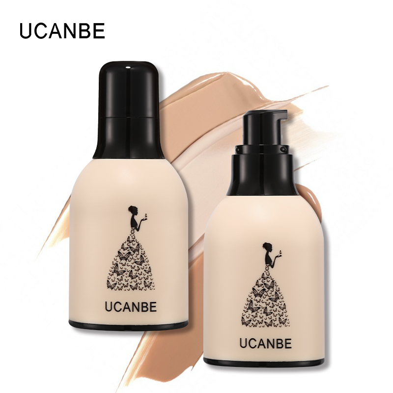 UCANBE Baby Skin Liquid Foundation Face Base Makeup Waterproof BB Cream Whitening Natural Tight Fit Coverage Concealer Primer