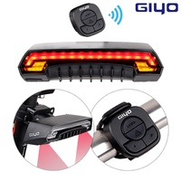 Giyo Bicycle Wireless Laser Rear Light Bike Turn Signal Remote Control Safety LED Warning Taillight USB Chargeable With Battery