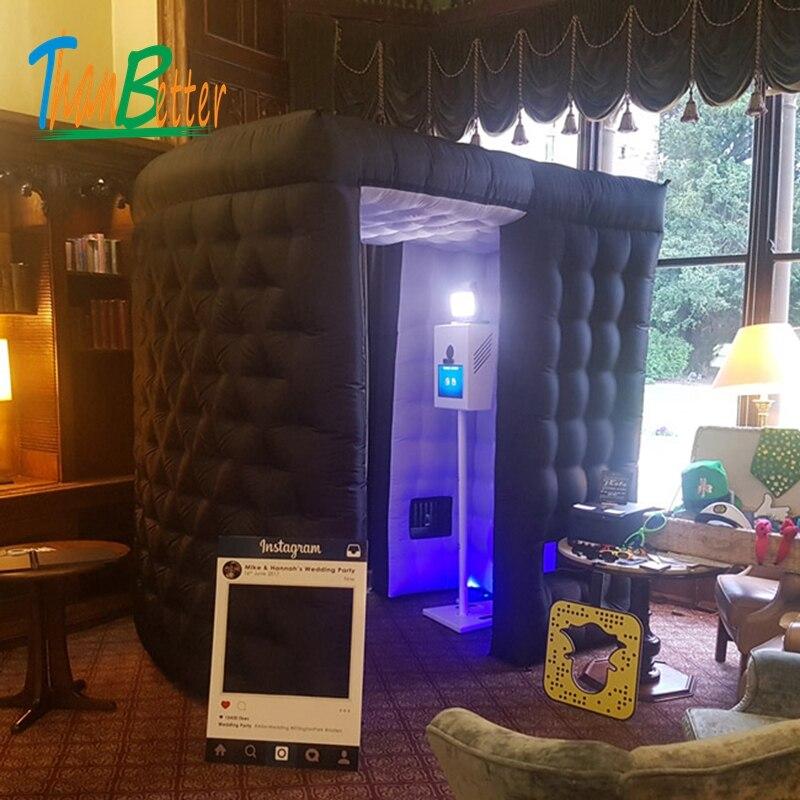 Cabine de photo gonflable de mariage de cabine de photo gonflable de LED d'expédition faite sur commande à vendre