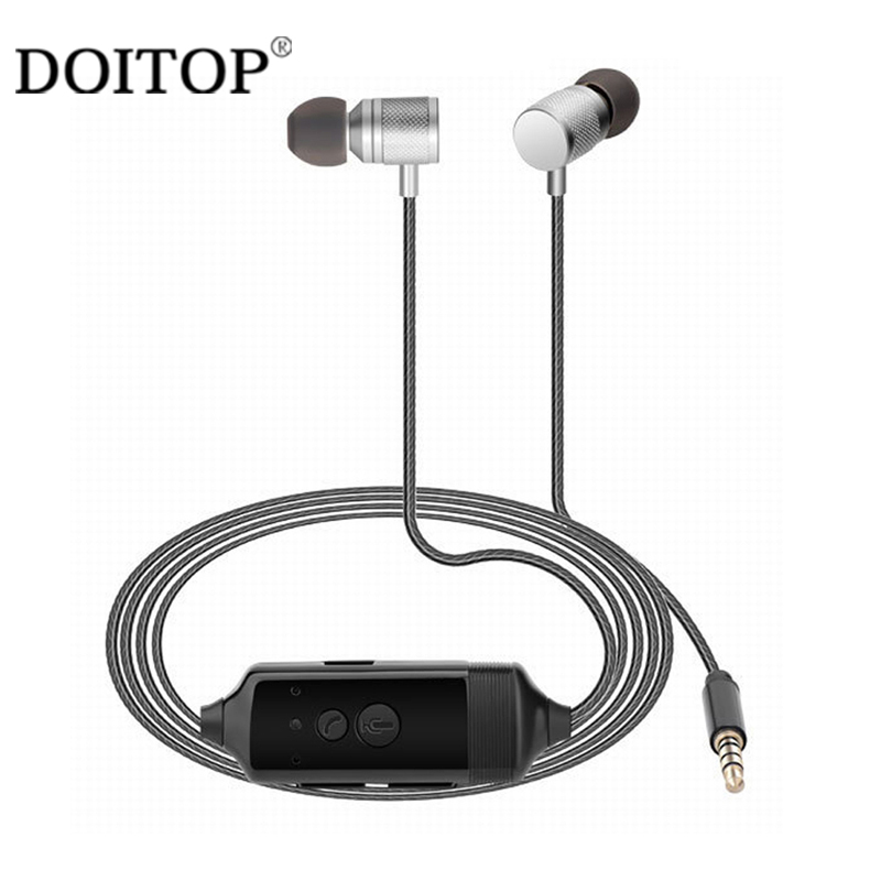 DOITOP Recordable Stereo In-ear Earphone Mobile Phone Call Recorder For iPhone X 6 7 Android Calls Conversation Recording Record 2016 new calls recorder for mobile phone record phone call on time for any phone size free shipping