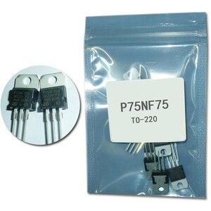 10 sztuk/partia P75NF75 to220 moc mosfet tranzystor STP75nf75 tranzystor polowy mosfet do-220 75v 80A mosfet 220 zestaw